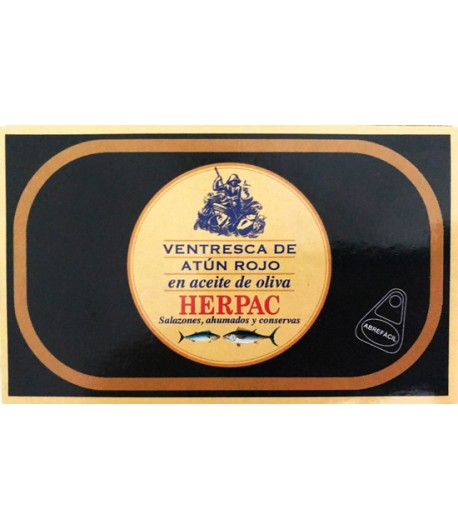 VENTRESCA ATUN ROJO A OLIVA 120 GR HERPAC