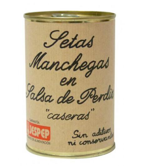 SETAS MANCHEGAS EN SALSA DE PERDIZ 400 GR JESPEP
